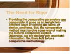the need for rigor