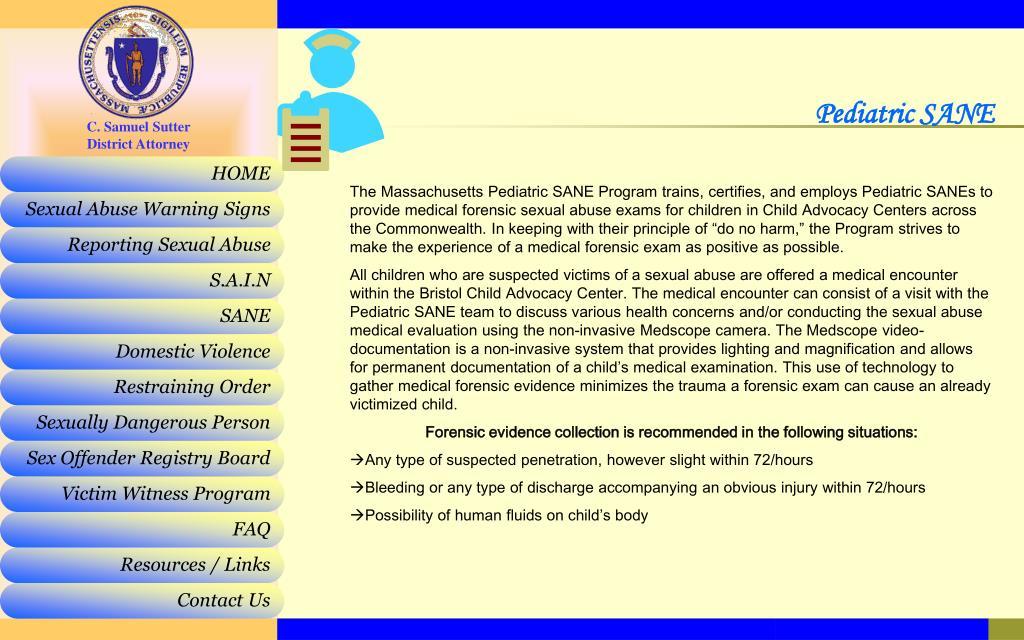Pediatric SANE