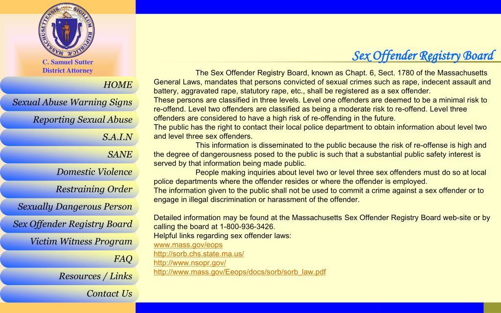 Sex Offender Registry Board