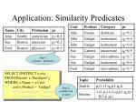 application similarity predicates1