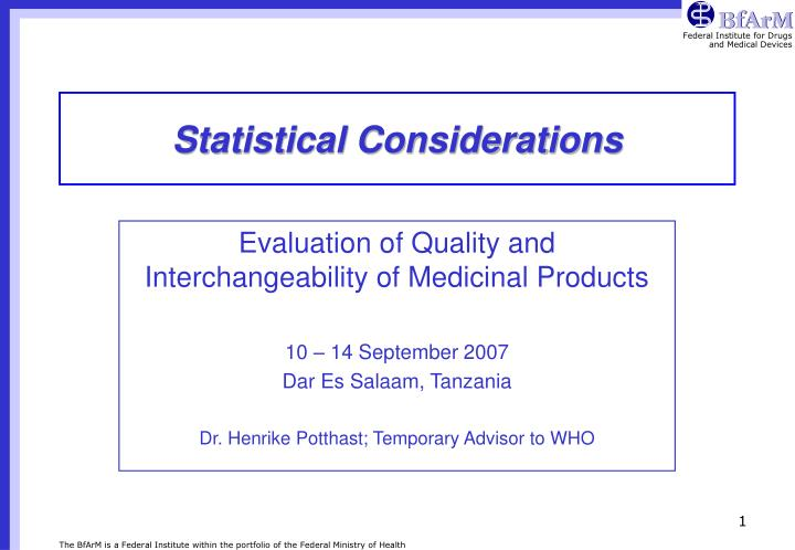statistical considerations n.