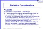 statistical considerations12