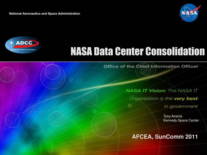 nasa data center consolidation n.