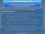 la revisione delle regole contabili le iniziative dello iasb