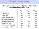 example cox regression spss example at www longitudinal stir ac uk