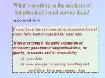 what s exciting in the analysis of longitudinal social survey data