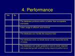 4 performance