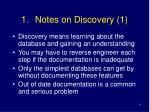 notes on discovery 1