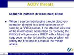 aodv threats