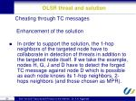 olsr threat and solution8