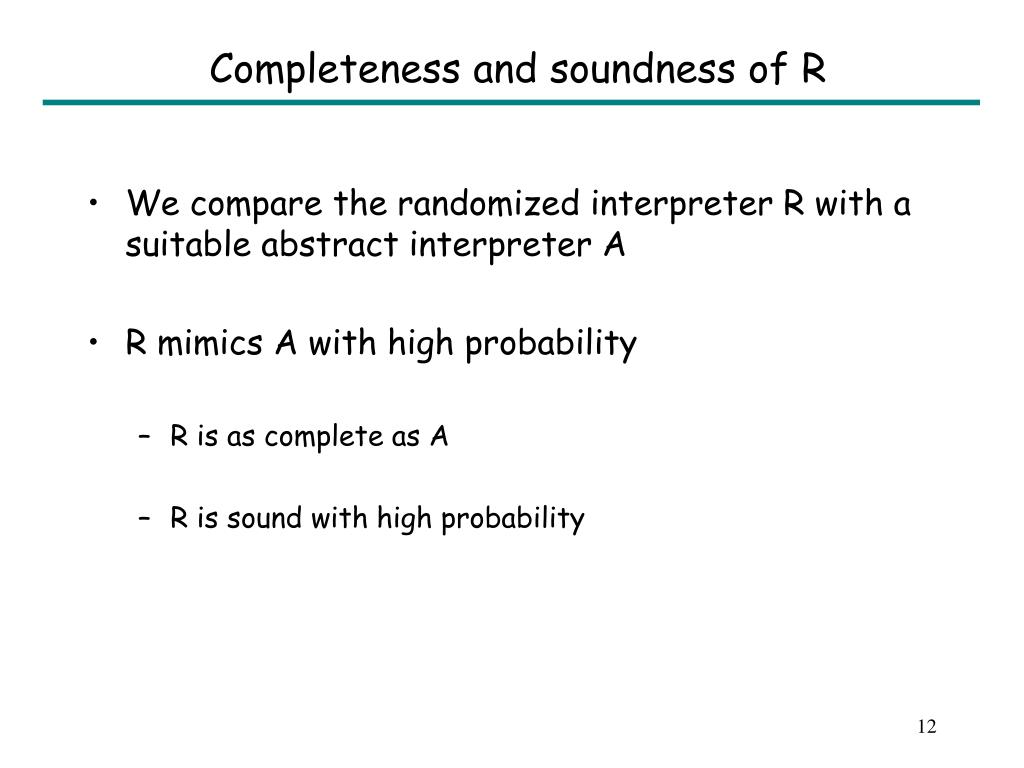 Completeness and soundness of R