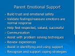 parent emotional support