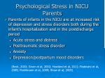 psychological stress in nicu parents