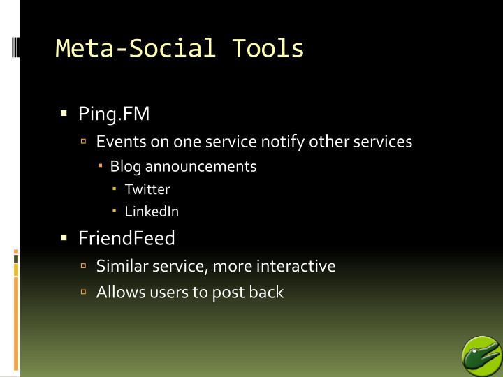 Meta-Social Tools