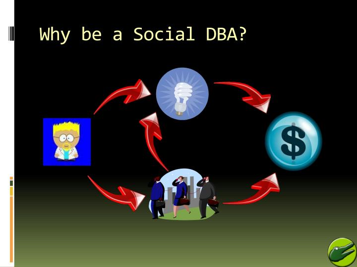 Why be a Social DBA?