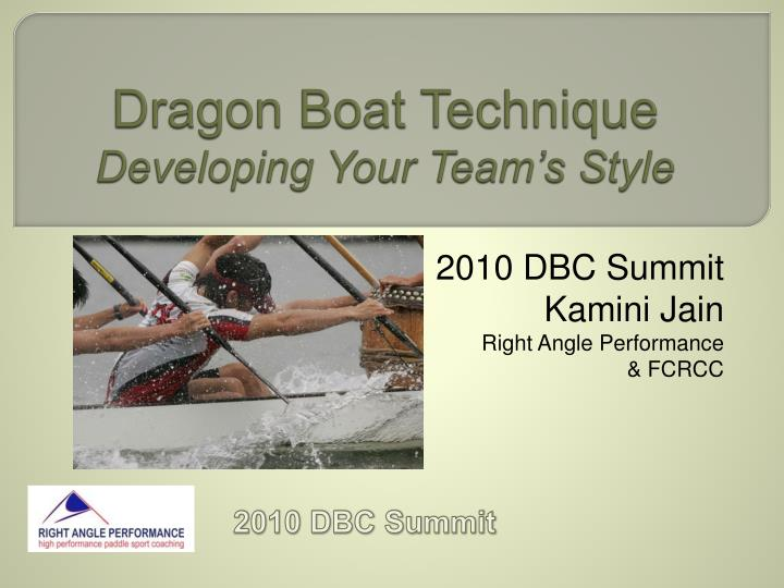 dragon boat technique developing your team s style n.