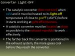 converter light off