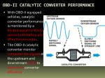 obd ii catalytic converter performance