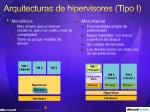 arquitecturas de hipervisores tipo i