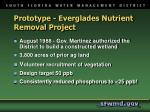 prototype everglades nutrient removal project