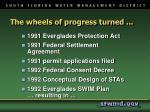 the wheels of progress turned