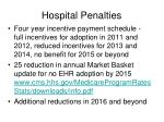 hospital penalties