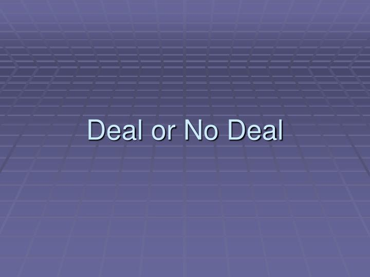 deal or no deal n.