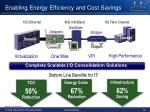 enabling energy efficiency and cost savings