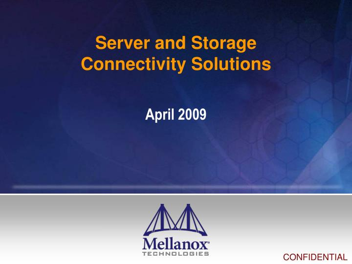 server and storage connectivity solutions n.