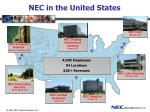 nec in the united states