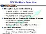 nec unified s direction