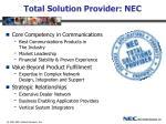 total solution provider nec