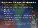 evolution flattens the hierarchy darwin s other dangerous idea2