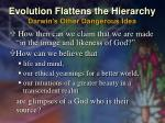 evolution flattens the hierarchy darwin s other dangerous idea3
