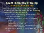 great hierarchy of being the great chain of being