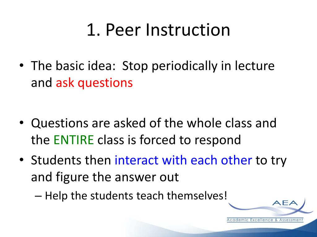 1. Peer Instruction