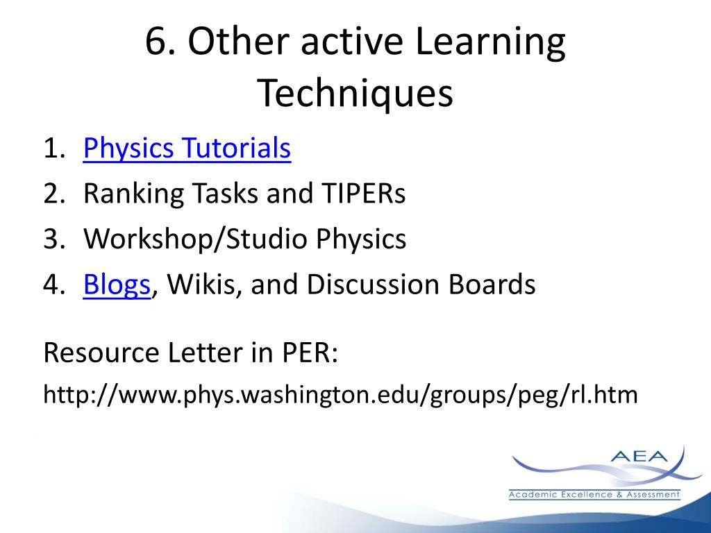 6. Other active Learning Techniques