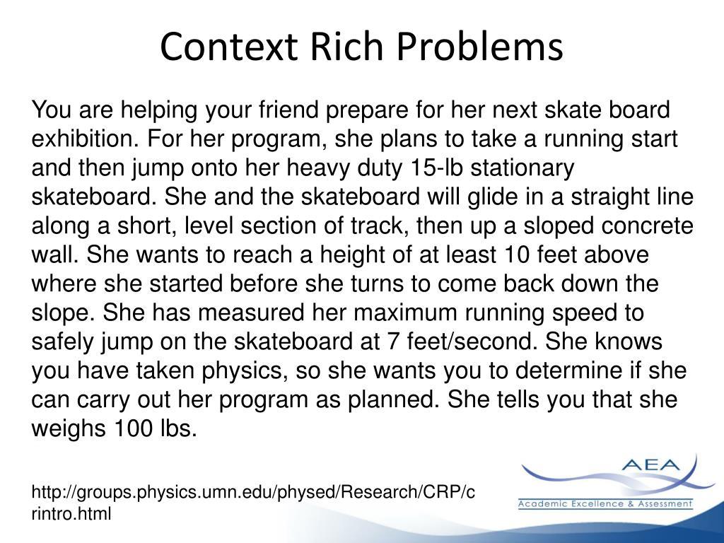 Context Rich Problems