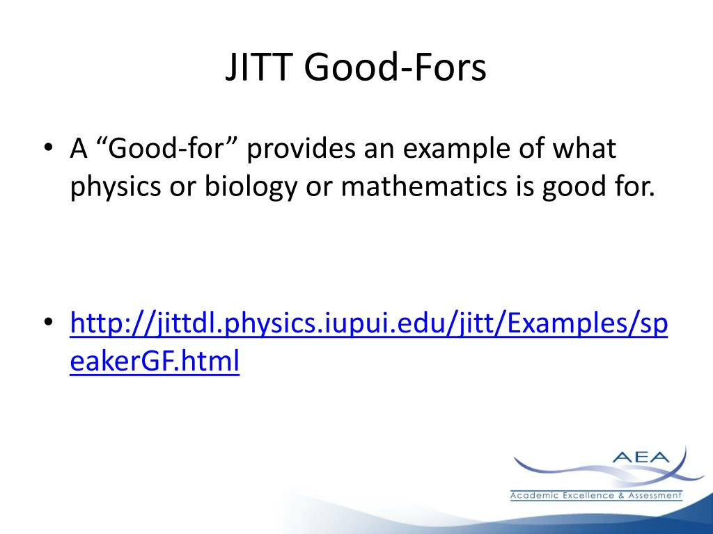 JITT Good-Fors