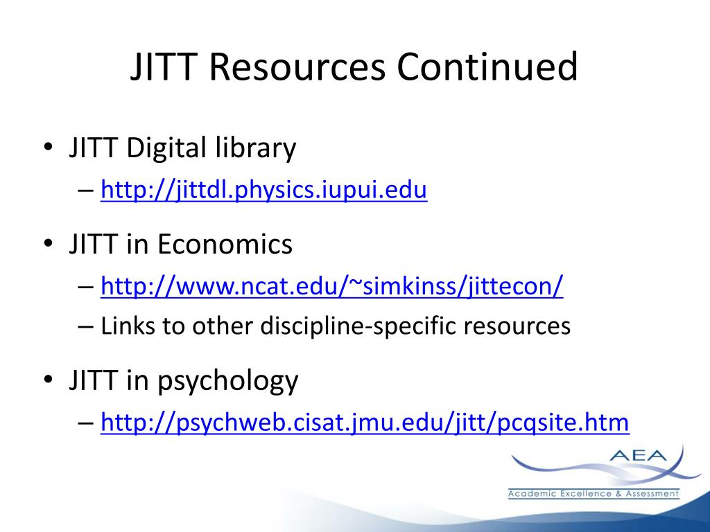 JITT Resources Continued