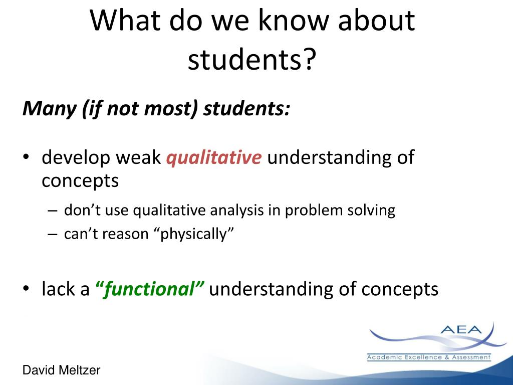 What do we know about students?