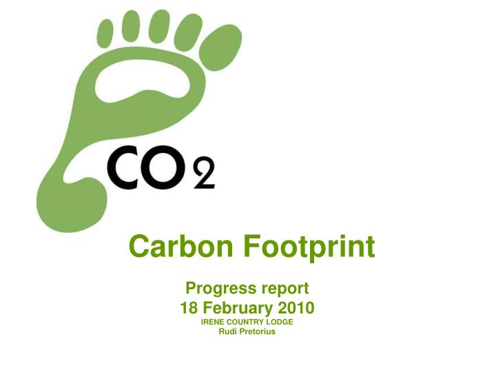 carbon footprint n.