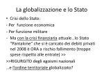 la globalizzazione e lo stato