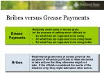 bribes versus grease payments