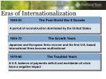 eras of internationalization