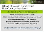 ethical choices in home versus host country situations1