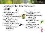 fundamental international rights