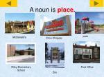 a noun is place