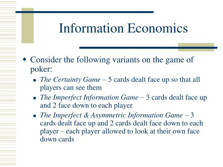 information economics n.