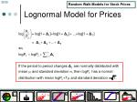 lognormal model for prices